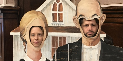 Eleanna and Ryan as American Gothic