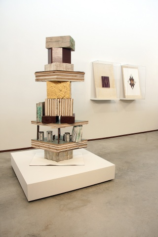 Found Materials, Wood, Paper, Concrete, Copper, Jean Eschmann Bound Book, 30 x 22 inch print, 2011