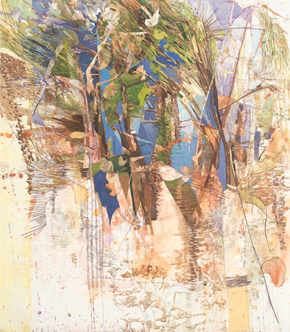 "Michele Lauriat, Untitled from the series Spot Pond, 2013, mixed media on paper, 63"" x 55"""