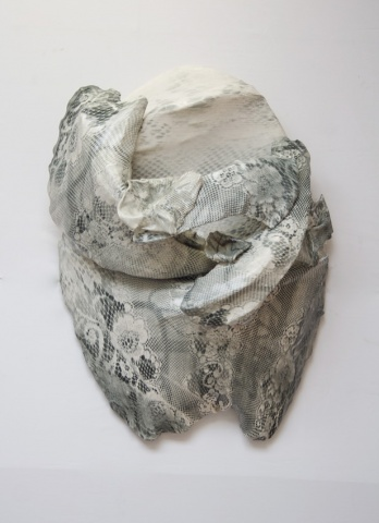 Neal Rock. Prosopon 0615/01 Pigmented silicone image transfer on silicone paint, styrofoam, and MDF. 120 cm x 80 cm x 20 cm