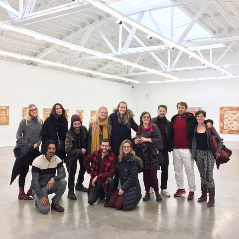 UI art students join current and former Grant Wood Fellows on a tour of Chicago galleries and museums.