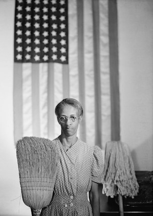 Gordon Parks, Washington D.C. Charwoom [American Gothic], August 1942